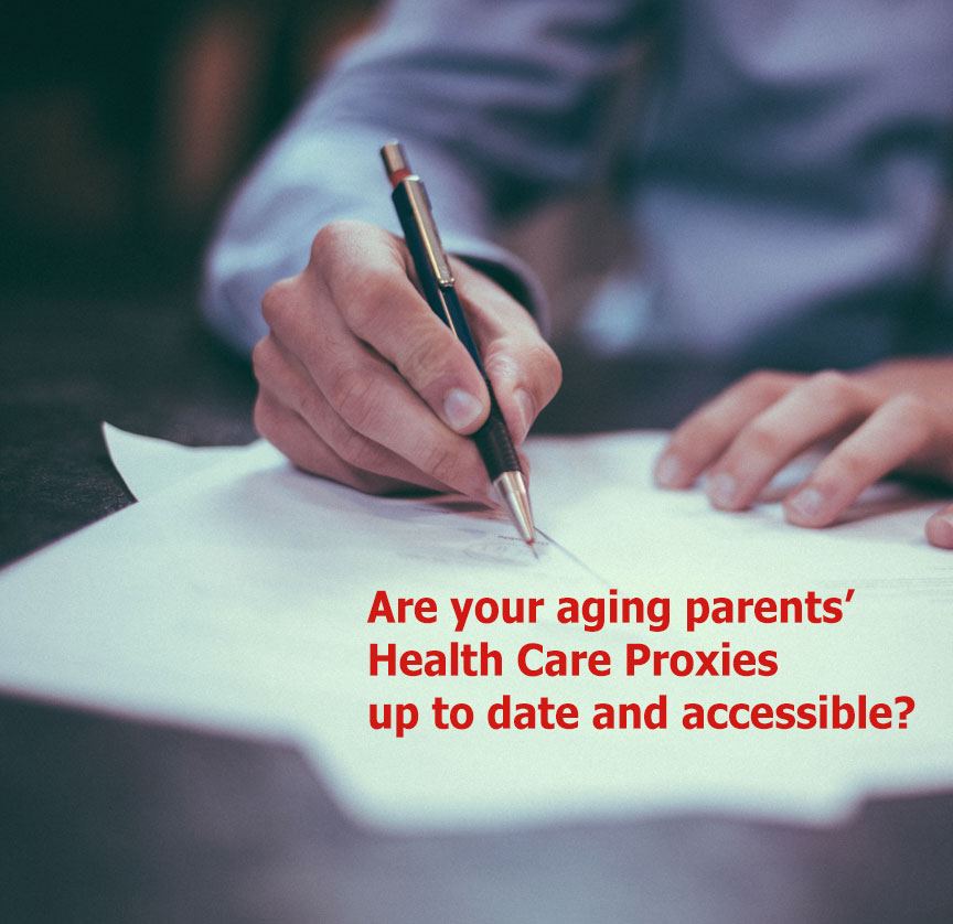 Are your aging parents' health care proxies up to date?